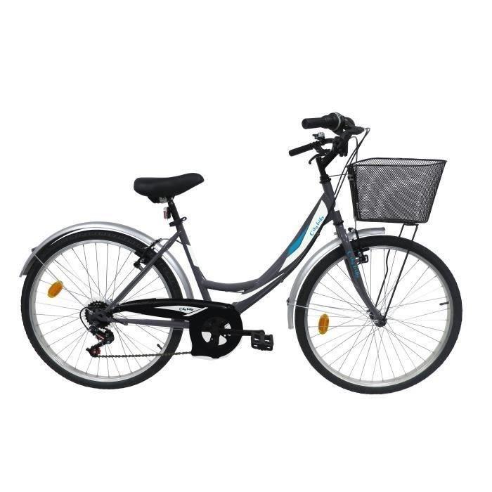"Vélo ville 26"" Femme VENERE 6 vitesses avec panier"