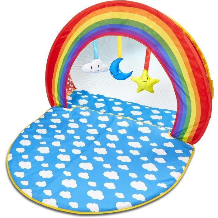 Tapis d'éveil et piscine à balles deux-en-un pour bébé