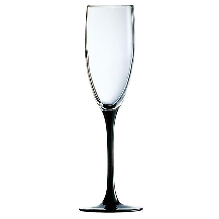 lot de 4 fl tes champagne luminarc domino achat vente coupe champagne cdiscount. Black Bedroom Furniture Sets. Home Design Ideas