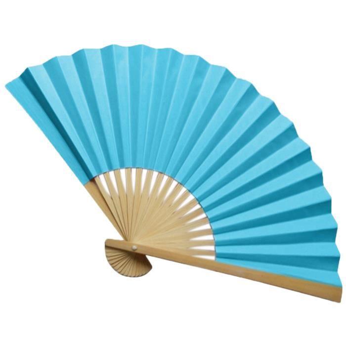 VENTILATEUR Style chinois à main Fan Bamboo Paper Folding Fan