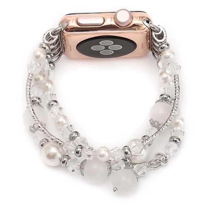 Pierre Naturelle De S3 Bracelet Perle Gear Brillant Montre Femmes Pour Élastique Samsung Frontier Agate BoxdCe
