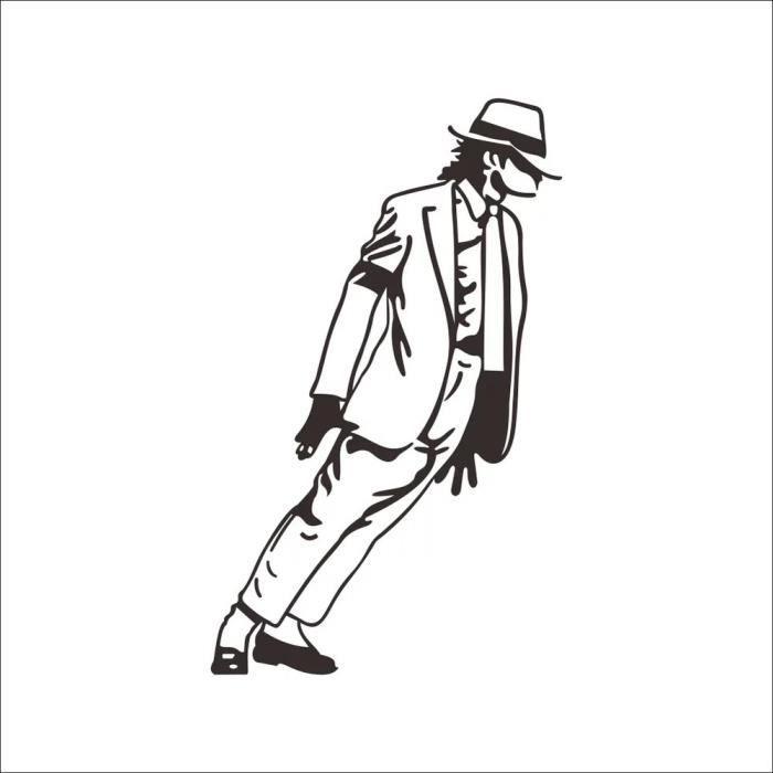 Nouvelle danse michael jackson stickers muraux bricolage - Dessin de michael jackson ...