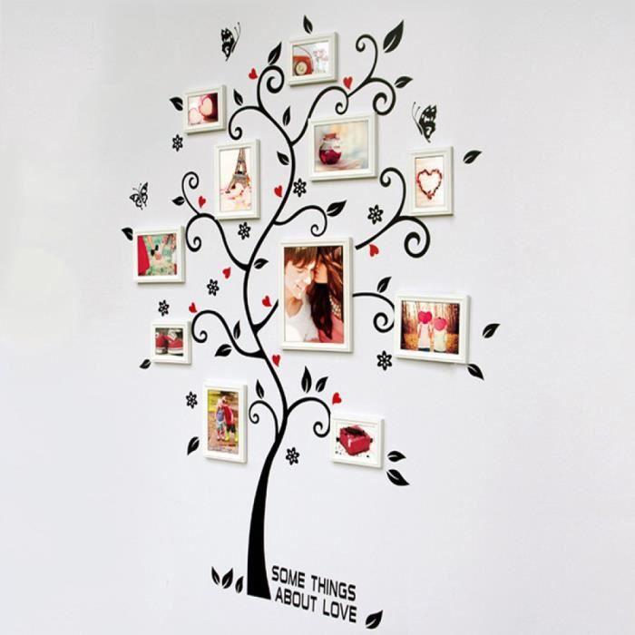 chambre cadre po d coration arbre g n alogique mur sticker affiche sur un stickers muraux arbre. Black Bedroom Furniture Sets. Home Design Ideas
