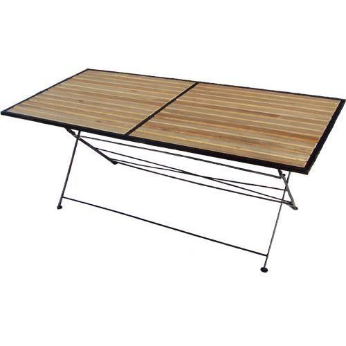 Table pliante bois et m tal achat vente table de jardin table pliante bois et m tal cdiscount - Table jardin pliante bois ...