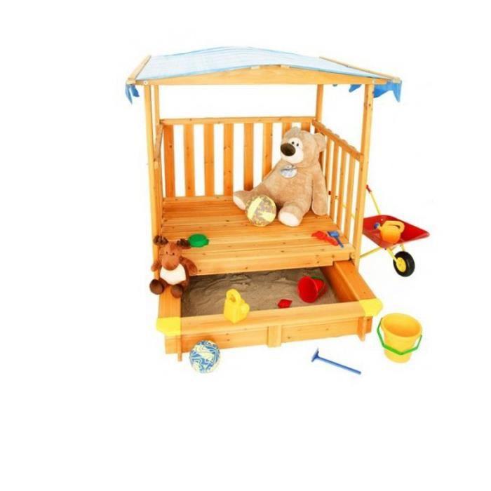 bac a sable avec toit achat vente jeux et jouets pas chers. Black Bedroom Furniture Sets. Home Design Ideas