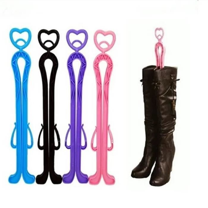 Plastique Rose Bottes Shaper Supporter Holder Shaft Keeper Organizer Storage Hanger