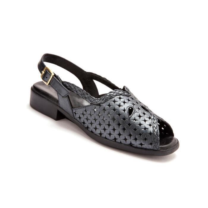 Sandales ajourées, à aérosemel