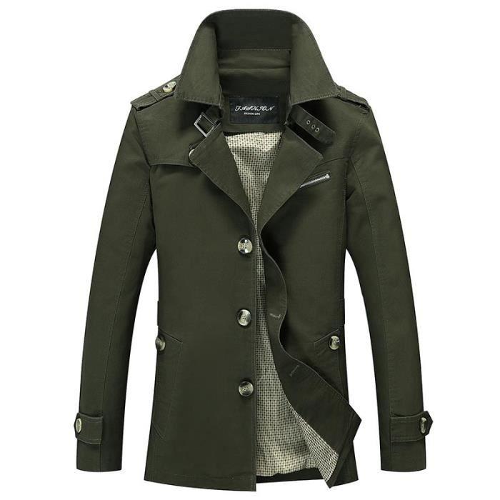 bleu Homme Noir En Slim vert Militaire Casual beige kaki De Coton Blouson Masculine Veste Vétement Printemps 4OvxdqO5nw