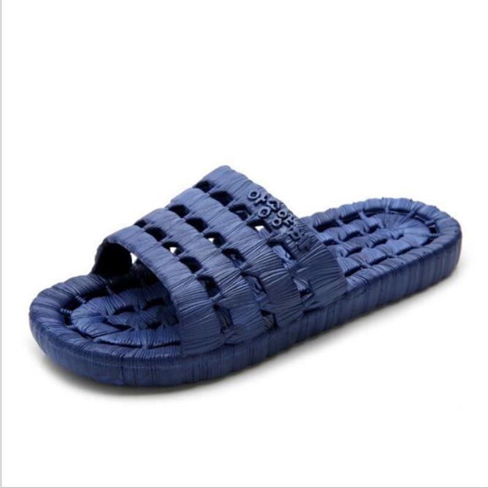 pantoufles homme marque de luxe chaussure branché meilleure qualité plein air d'été 2017 nouvelle Grande Taille 40-45 Plus couleur