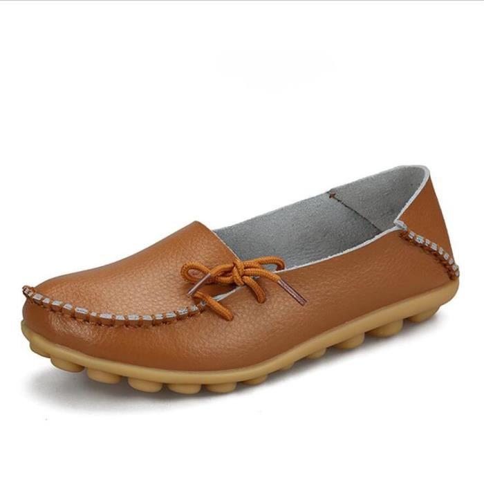Loafer femmes Marque De Luxe Nouvelle arrivee Grande Taille chaussure Meilleure Qualité chaussures plates Confortable K2n2e1