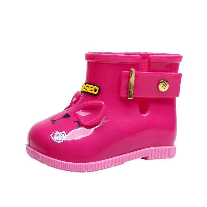 3f5ac18aaed22 Imperméable à l eau bottes en caoutchouc enfant bébé bottes de pluie ...