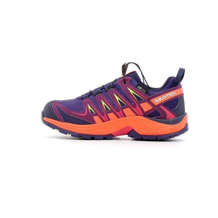 50e37f7b266 Chaussure de trail - randonnée enfants Salomon XA PRO 3D CSWP Kid coloris  Parachute - Nastur