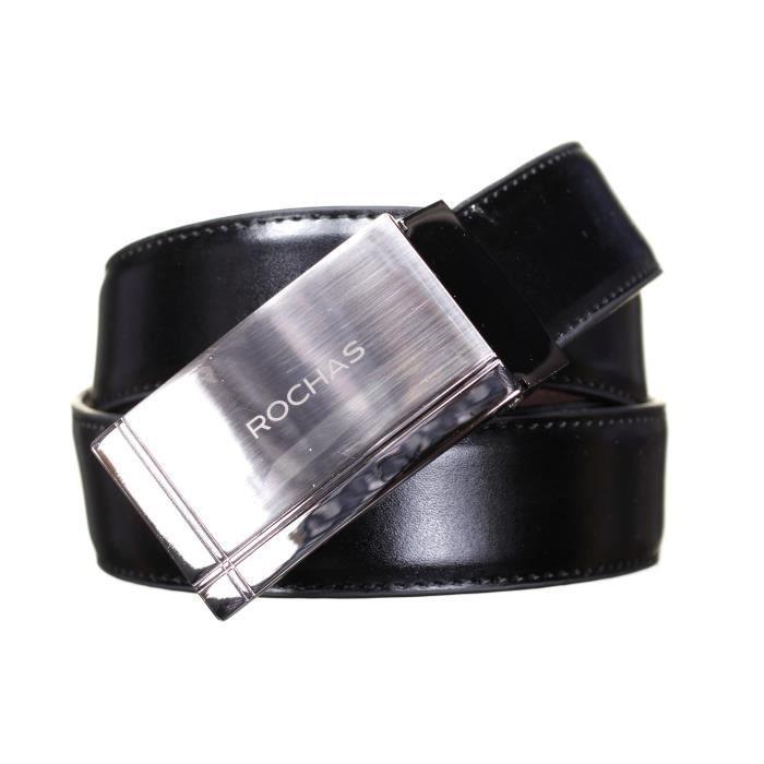 Ceinture Rochas CRO 3 Reversible Noir Marron - Achat   Vente ceinture et  boucle 3700800002491 - Soldes  dès le 9 janvier ! Cdiscount 16c4f4c5084