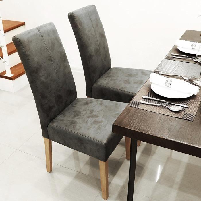 Chaises gris achat vente chaises gris pas cher cdiscount - Chaise salle a manger coloree ...