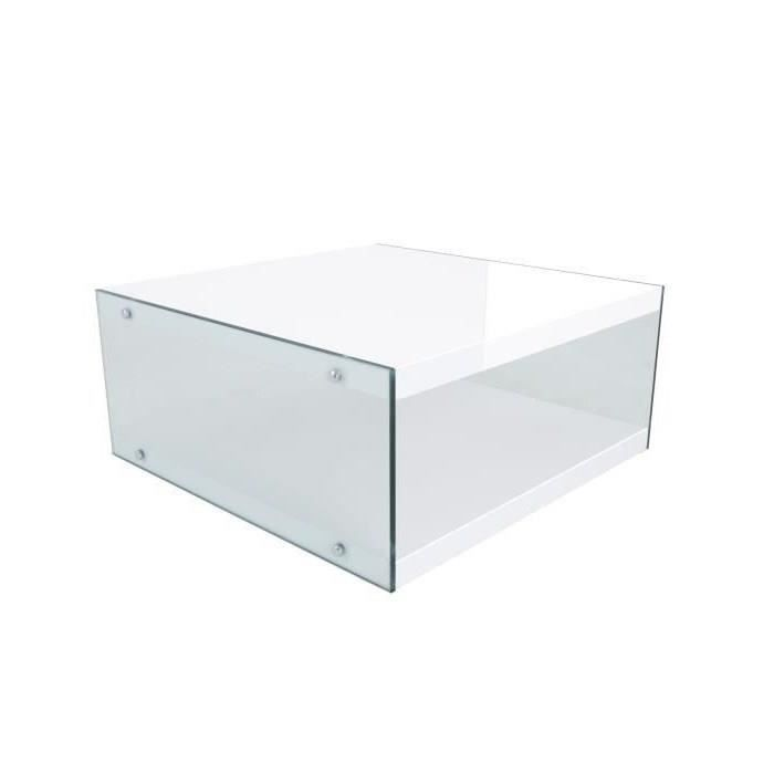 TABLE BASSE DAKOTA Table basse 80x80 cm - Laqué blanc mat