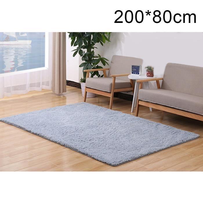 Minimaliste moderne - cuir d\'agneau - velours arctique - salon / table  basse - tapis - gris (80X200cm)