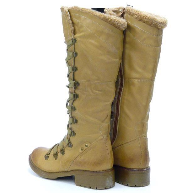 femmes chaussures bottes doublé robuste hiver Boots marron 36