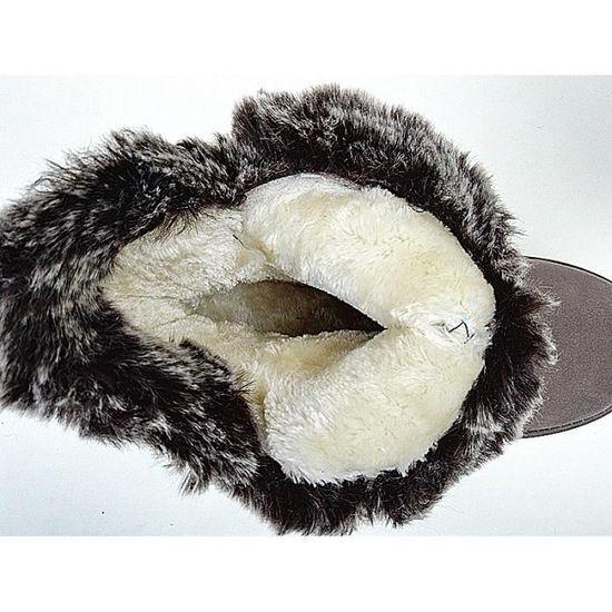 Botte Hiver Femme Fur Boots Chaussure Fille Bottine Fourrées Plat EzqxwqU1Bp