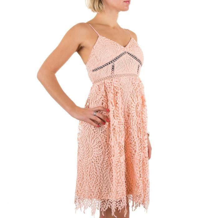 Femme robe dentelle Cocktail rose S