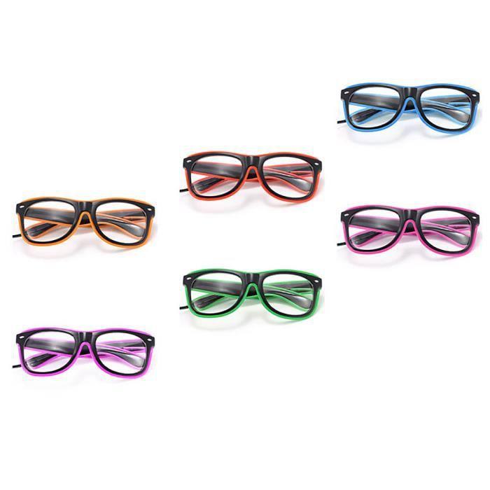 Lunettes de fil El LED illuminent lueur lunettes de soleil clignotant lunettes pour rave est partie - violet