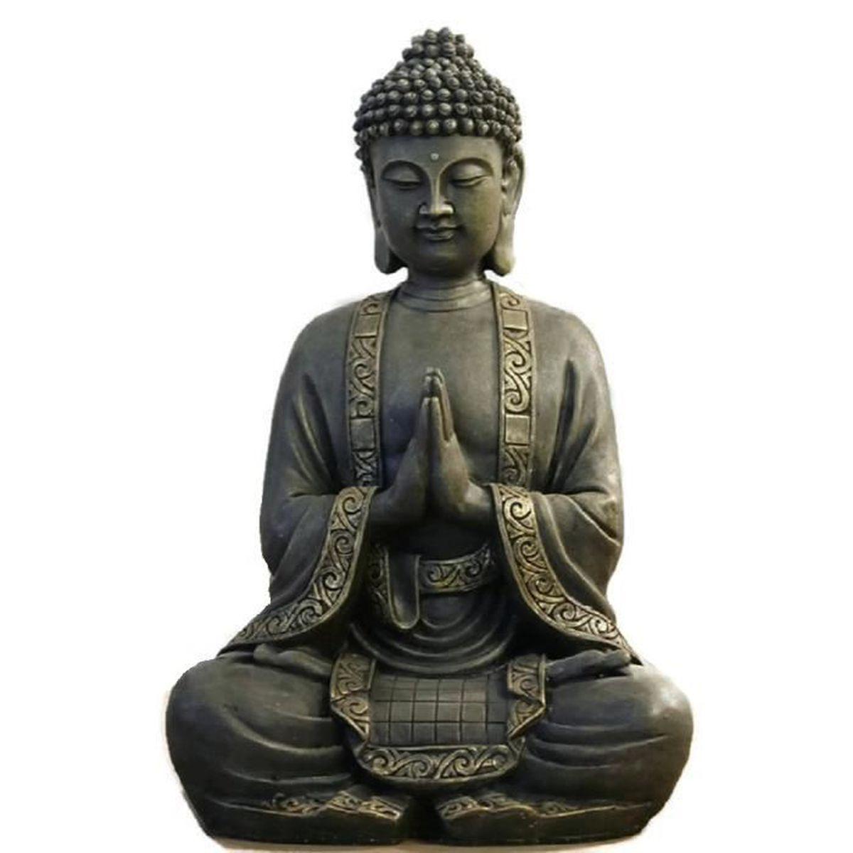 statuette bouddha m ditant xl 40 cm achat vente statue. Black Bedroom Furniture Sets. Home Design Ideas