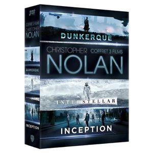 DVD SÉRIE Coffret 3 DVD Nolan : Inception, Interstellar & Du