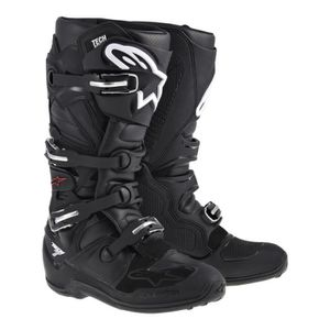 CHAUSSURE - BOTTE Bottes Moto Cross Alpinestars Tech 7 Noir - Noir