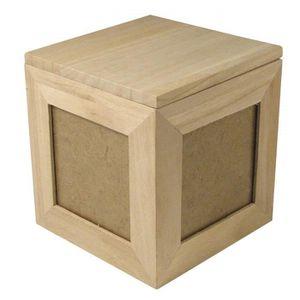 CADRE PHOTO 62266000 cube photo en bois fSC mix credit 12 x 12