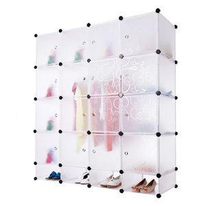 ARMOIRE DE CHAMBRE Plastique Assembler la Garde-robe Simple Armoire d