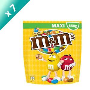 CONFISERIE DE SUCRE MARS Lot de 7 Cacahuètes M&M's enrobées de chocola