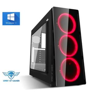 UNITÉ CENTRALE  Ordinateur Pc Gamer Deathmatch Red AMD Ryzen 5 240