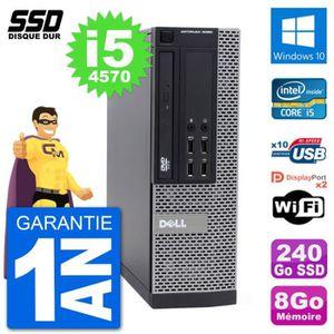 ORDI BUREAU RECONDITIONNÉ PC Dell OptiPlex 9020 SFF Intel Core i5-4570 RAM 8