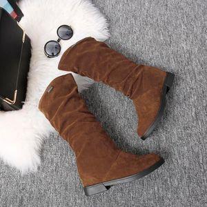 BOTTE Chaussures@ Bottes plates élégantes pour femmes Ma