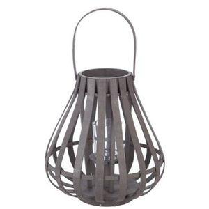 Lanterne À Et X Bambou VerreColoris Suspendre En Gris 29 DimD fvb7Y6yg