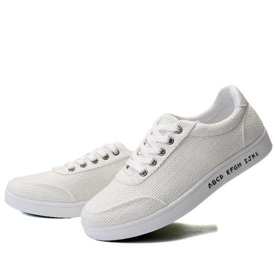 Skateshoes homme - Semelle souple Blanc Classique chaussures homme FXG-XZ1006 Blanc souple Blanc - Achat / Vente skateshoes 7693e5