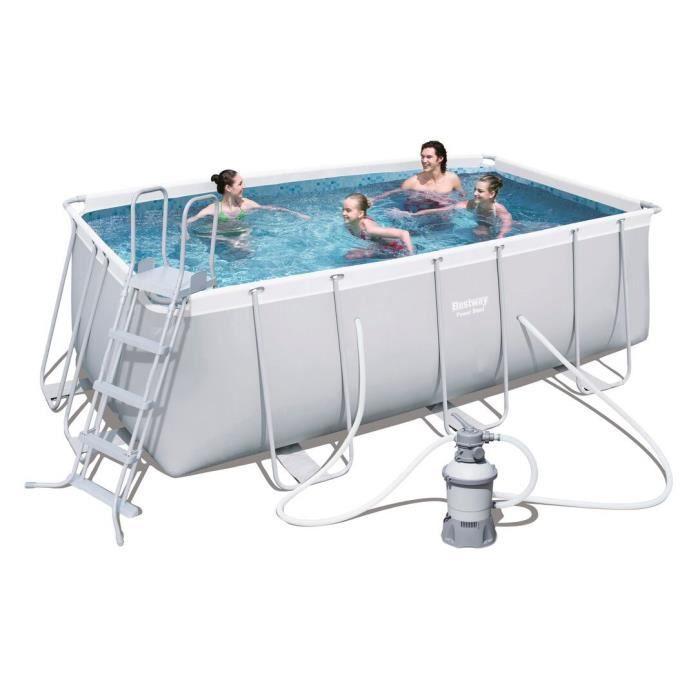 Kit piscine bestway for Kit piscine tubulaire rectangulaire