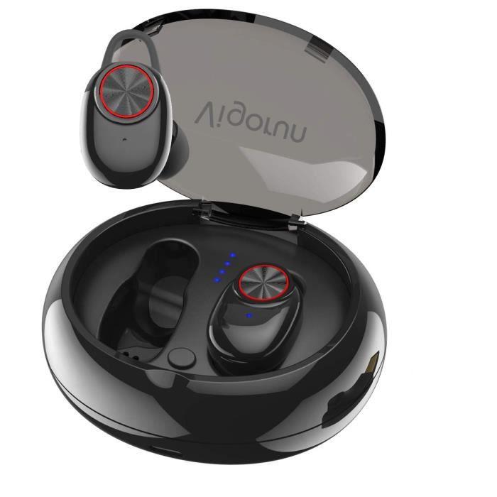 Écouteurs Bluetooth Oreillette Sans Fil Sport, Écouteur Stéréo Réduction De Bruit Cvc 6.0 Boîte Charge Etanche Ipx5 Micro Intégré