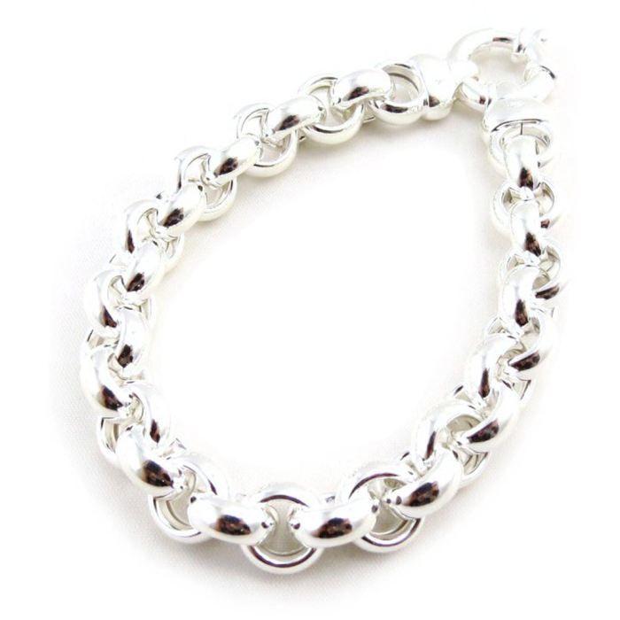 Bracelet Argent Jaseron 20 Cm 1 Cm Achat Vente Bracelet Gourmette Bracelet Argent