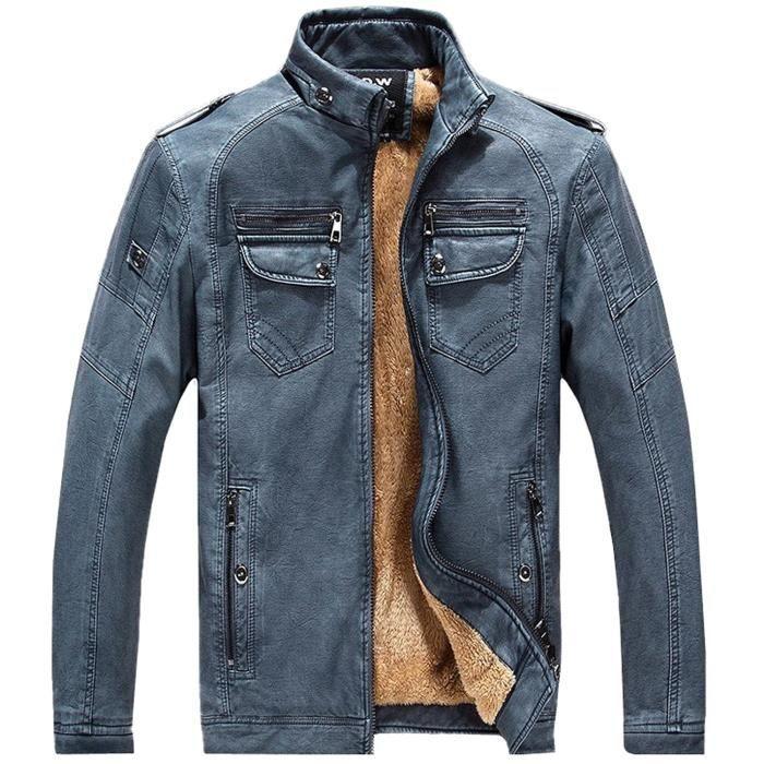 Fashion Pour Cuir Blouson Veste Manteau En Homme Pujeans Hiver rFarxZwqp