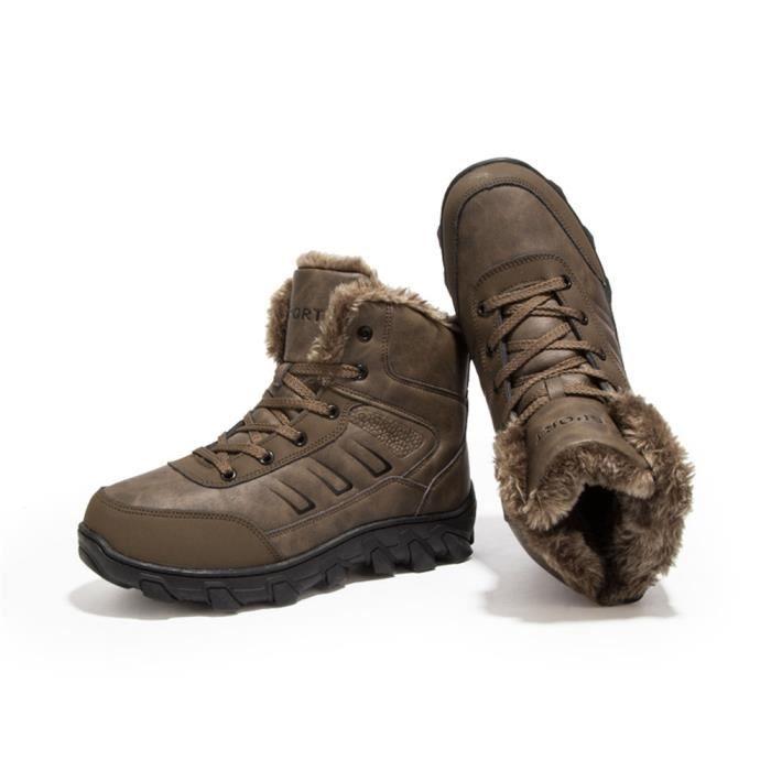 Homme Plus Nouvelle Chaussure Neige Hiver De Chaud Cachemire Au 48 39 Bottine Coton Garde Antidérapant Hiver Mode De Bottes Champ AqWITx7W6