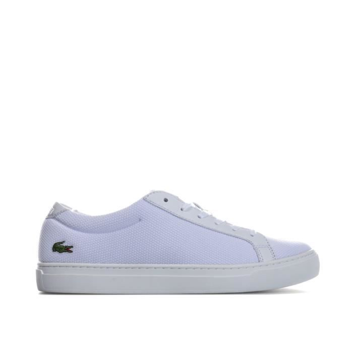 Lacoste Homme White - Marron L.12.12 317 4 Baskets-UK 10 Blanc Blanc - Achat / Vente basket  - Soldes* dès le 27 juin ! Cdiscount