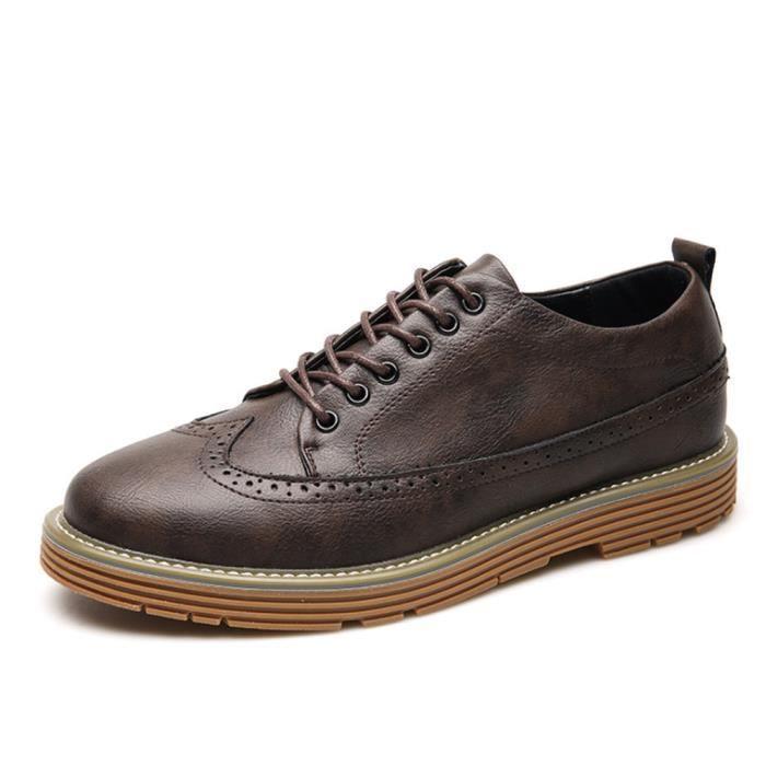 Casual À Chaussure Chaussures Luxe Homme Richelieu Résistantes Cuir L'usure En wnqPIB