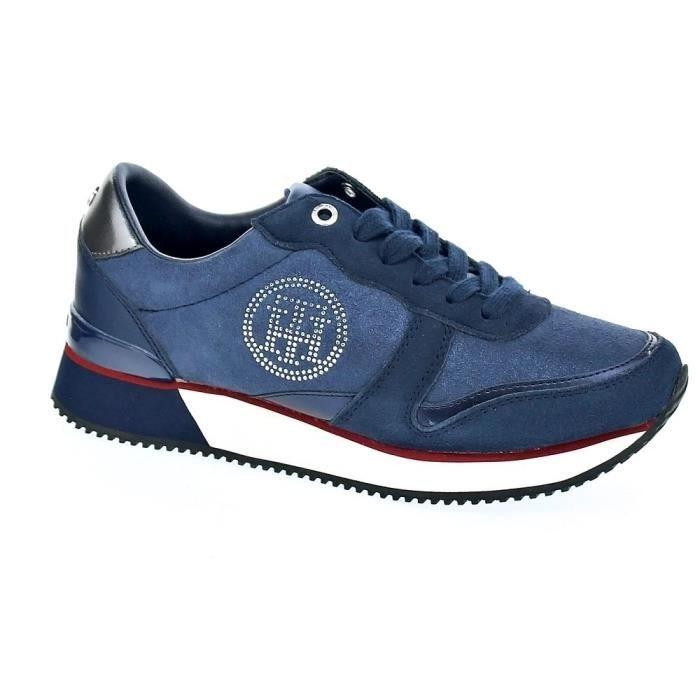 dd4602da2bef1 Baskets basses - Tommy Hilfiger Stud City Sneaker Femme Bleu Bleu ...