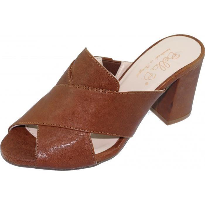 MULE BLUR Mule raffinée à talon chaussures sandales pou