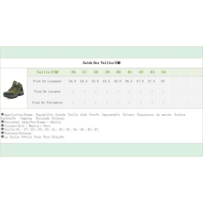 Homme Espadrille Grande Taille Aide élevée Impermeable Velours Chaussures de marche Outdoor Randonnée Camping Escalade Unisexe