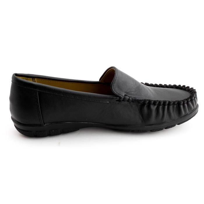 Kali Femmes Faux cuir épais Semelle intérieure Comfort Slip-on Chaussures (adultes) LNJGR Taille-40 mU4ia
