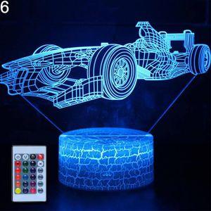 LAMPE A POSER Mode 3D Voiture Coloré LED Night Light USB Touch C