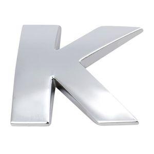 DÉCORATION VÉHICULE (AZ) 3D DIY métallique Alphabet autocollant Lettre