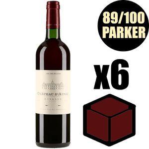 VIN ROUGE X6 Château D'Arsac 2015 75 cl AOC Margaux Rouge Vi