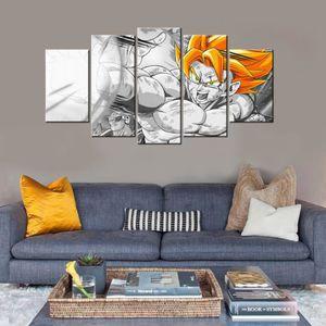 TABLEAU - TOILE 5 panneaux imprimés toile peinture Dragon Ball Z C